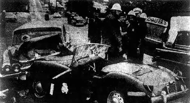 Vehicle wreck on Lomita in Harbor City